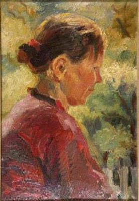 Анатольев Н. А. Картина : Солнечный портрет. 1936. К.М. 47.5x33