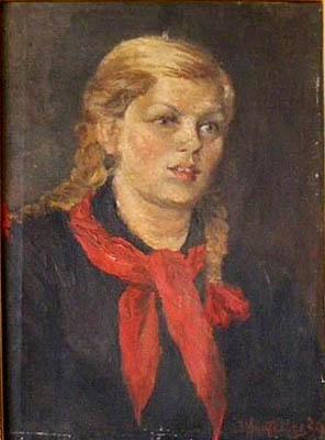 Анатольев Н. А. Картина : Пионерка. 1939. Холст, масло. 35х50. (Частная коллекция).