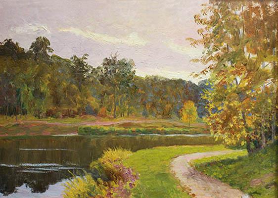 Анатольев Н. А. Картина : У реки. 1964. К.М.