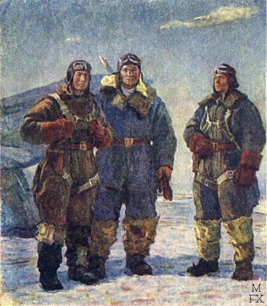 Ф.В. Антонов. Картина : Три Ивана. 1942. Холст, масло. 182х150