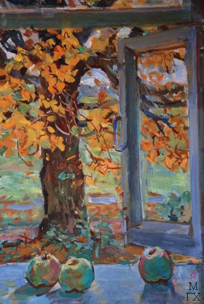 Ф.В. Антонов. Картина : Липа за окном. 1988. Х.Темпера. 87х67