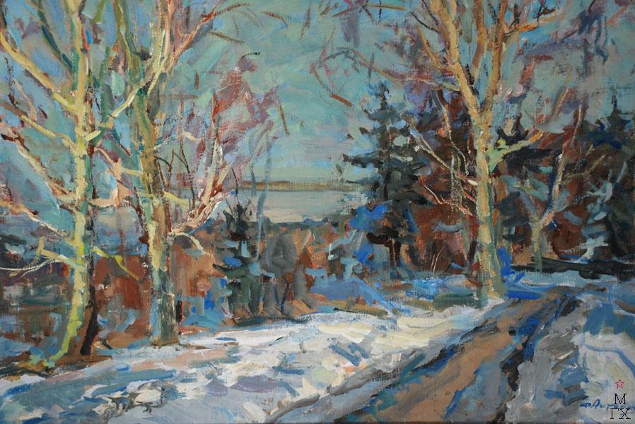 Ф.В. Антонов. Картина : Мартовский снег. 1962. Холст, темпера. 66х85