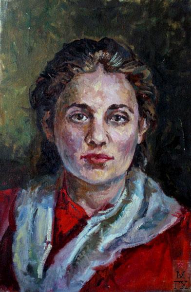 Ф.В. Антонов. Картина : Портрет Ульяны Громовой. 1941. Х.М. 54х35.