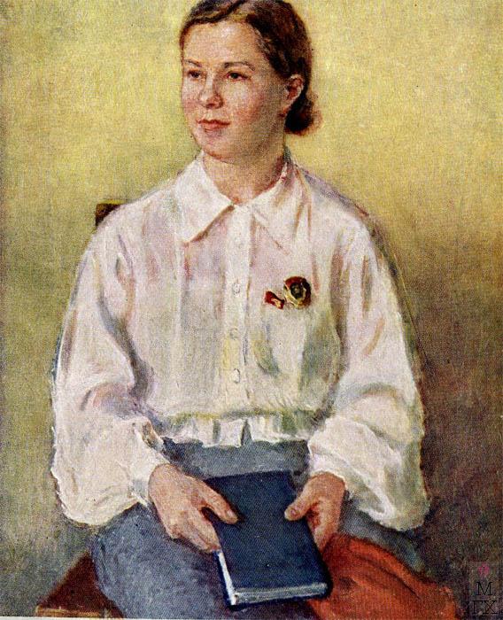 Ф.В. Антонов. Картина : Депутат ВС СССР П. Ковардак. 1940