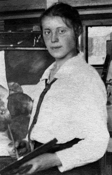 Евдокия Ануфриева в мастерской