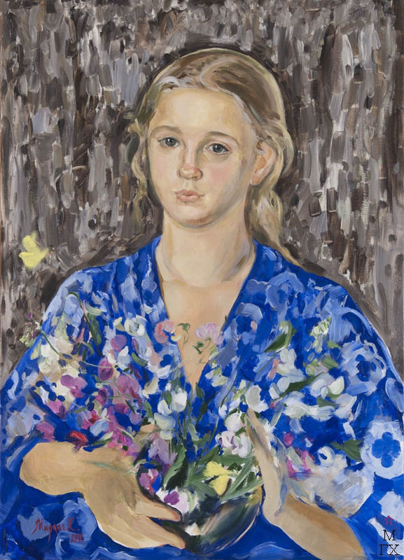 К.В. Ануфриева-Мирлас. Девочка в голубой кофте.