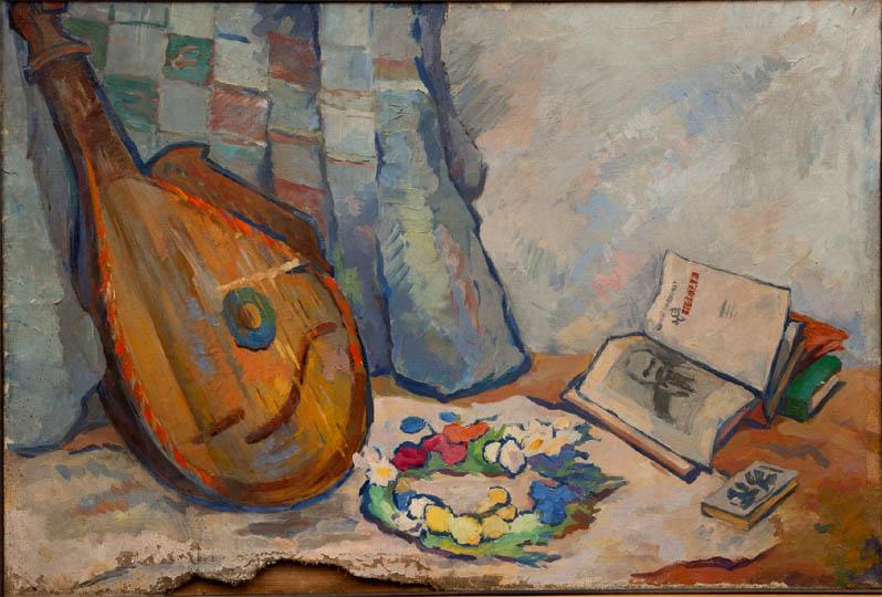 Э.Н. Бабад. Картина : Натюрморт с бандурой. 11х76.