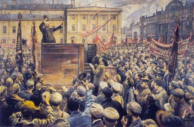 И.И. Бродский. Картина : Выступление В.И.Ленина на митинге рабочих.
