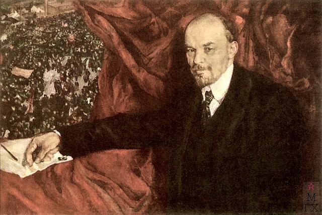 И.И. Бродский. Картина : Ленин и манифестация 1919 г.