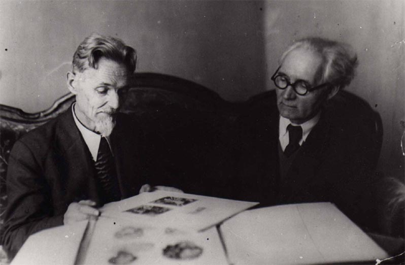 Н. М. и А. М. Чернышёвы 1940-е гг.