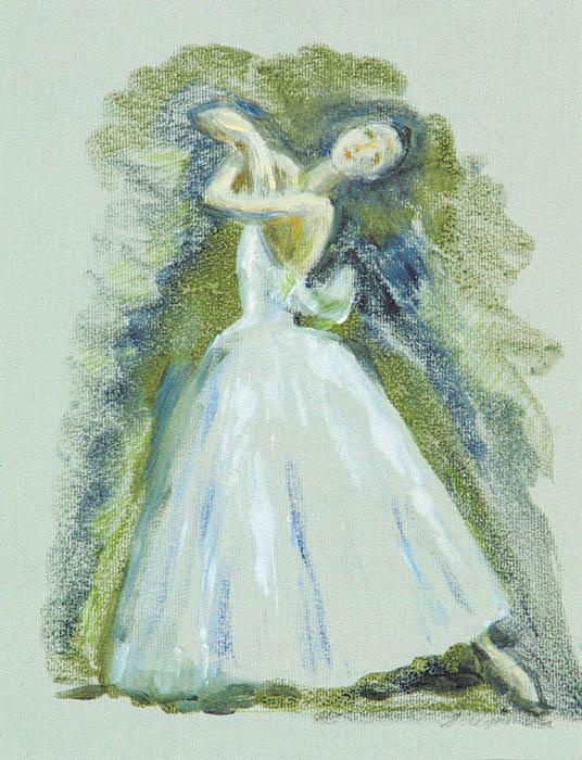 П.Н. Чернышева. Картина : Балет  «Жизель». 2001 г. Бум., монотипия. 21х30