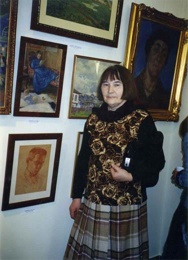 П.Н. Чернышева на выставке в Новом Эрмитаже. 2010 г.