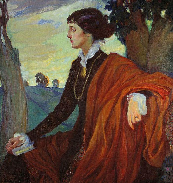 О.Л. Делла-Вос-Кардовская. Картина : Портрет Анны Андреевны Ахматовой. 1914.