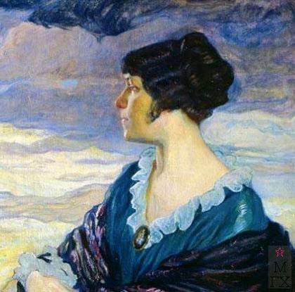 О.Л. Делла-Вос-Кардовская. Картина : Автопортрет. 1917