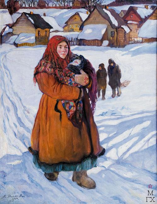 О.Л. Делла-Вос-Кардовская. Картина : Юная мать. 1924