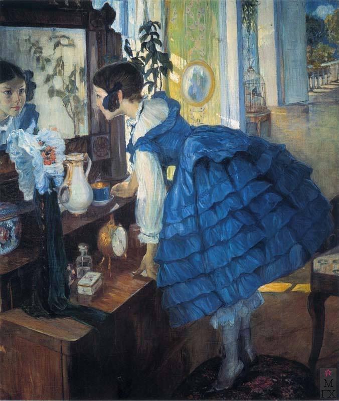 О.Л. Делла-Вос-Кардовская. Картина : Катя Кардовская (Маленькая женщина), 1910.