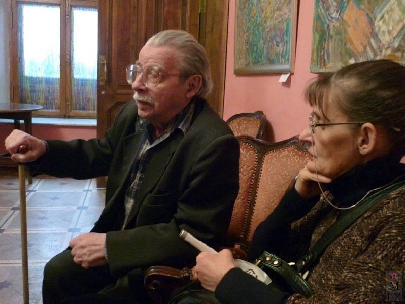 О.В. Чистяков на выставке памяти В.М. Диффинэ-Кристи 2-го апреля 2011 г. в Москве в Доме журналиста.