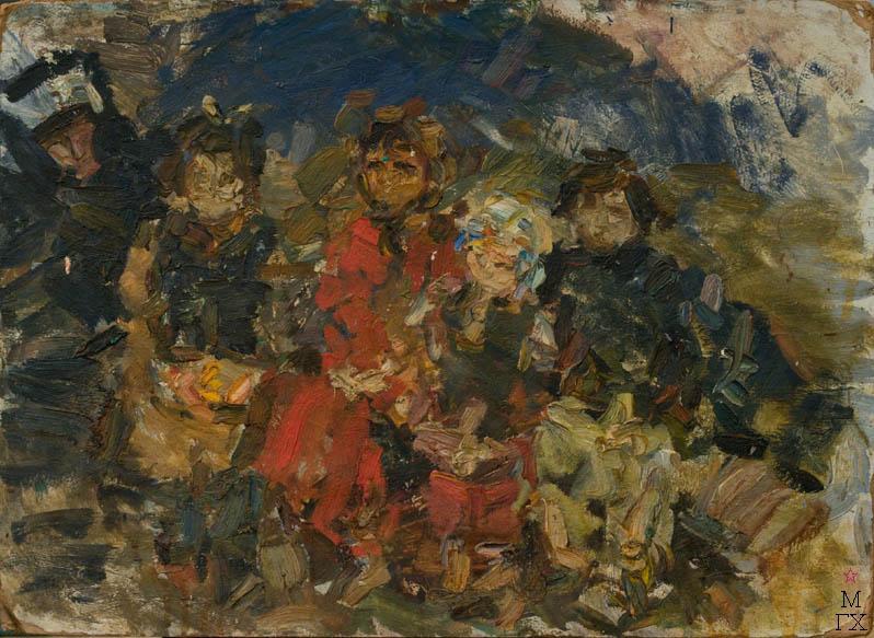 В.М. Диффинэ-Кристи. Картина : Дети. 1959.