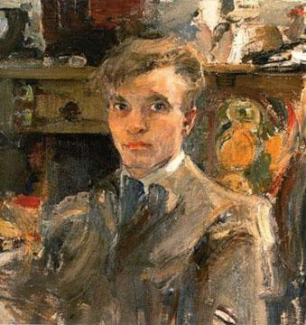 Н.И. Фешин. Картина : Автопортрет. 1920. Холст, масло.