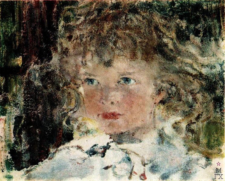Н.И. Фешин. Картина : Портрет дочери Ии. Начало 1920-х