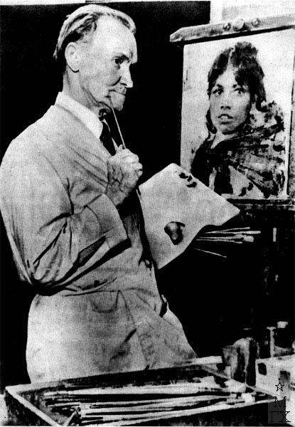 Н.И. Фешин в мастерской. 1950-е гг.