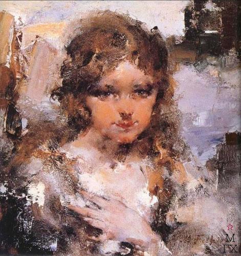 Н.И. Фешин. Картина : Портрет девочки.