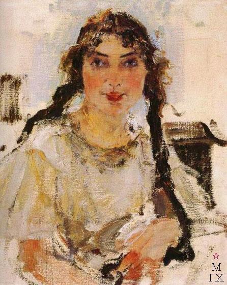 Н.И. Фешин. Картина : Портрет девушки.