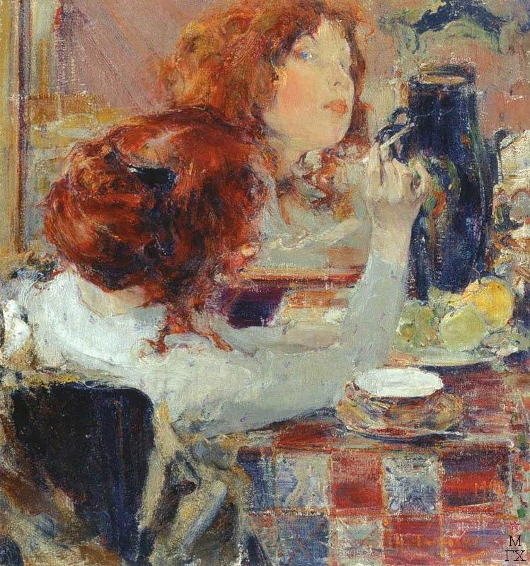 Н.И. Фешин. Картина :  Рыжие волосы. 1914.