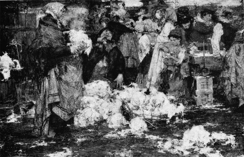 Н.И. Фешин. Картина :  Капустница. 1909.