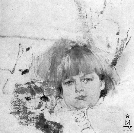 Н.И. Фешин. Картина : Портрет Миши Бардукова. 1914.