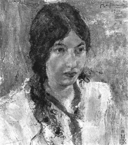 Н.И. Фешин. Картина : Портрет М.Г. Медведевой. 1912.
