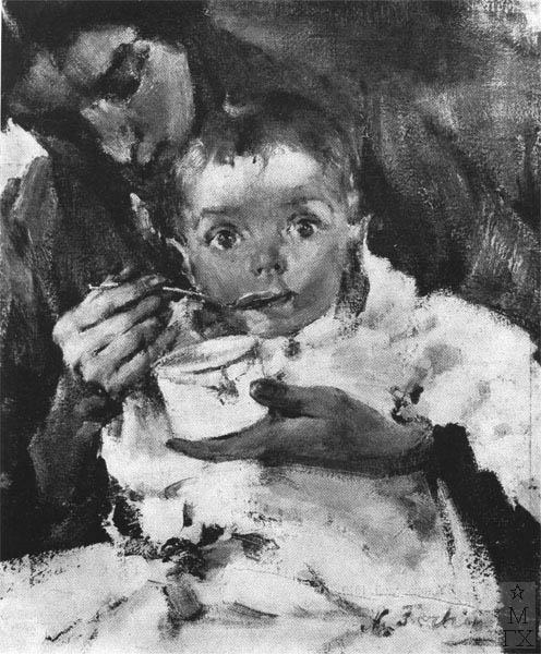 Н.И. Фешин. Картина : Ия. 1913.