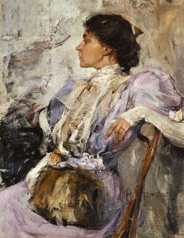 Н.И. Фешин. Картина : Портрет неизвестной. 1908. Холст, масло