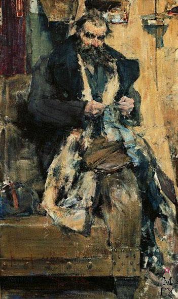Н.И. Фешин. Картина : Портрет отца. 1918.