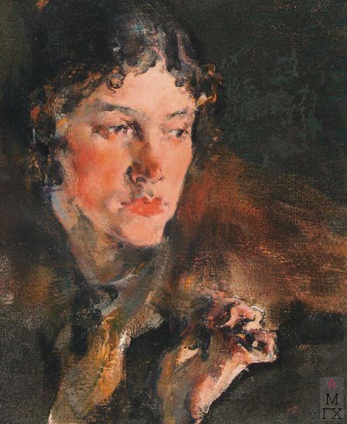 Н.И. Фешин. Картина : Потрет жены. 1920-е.