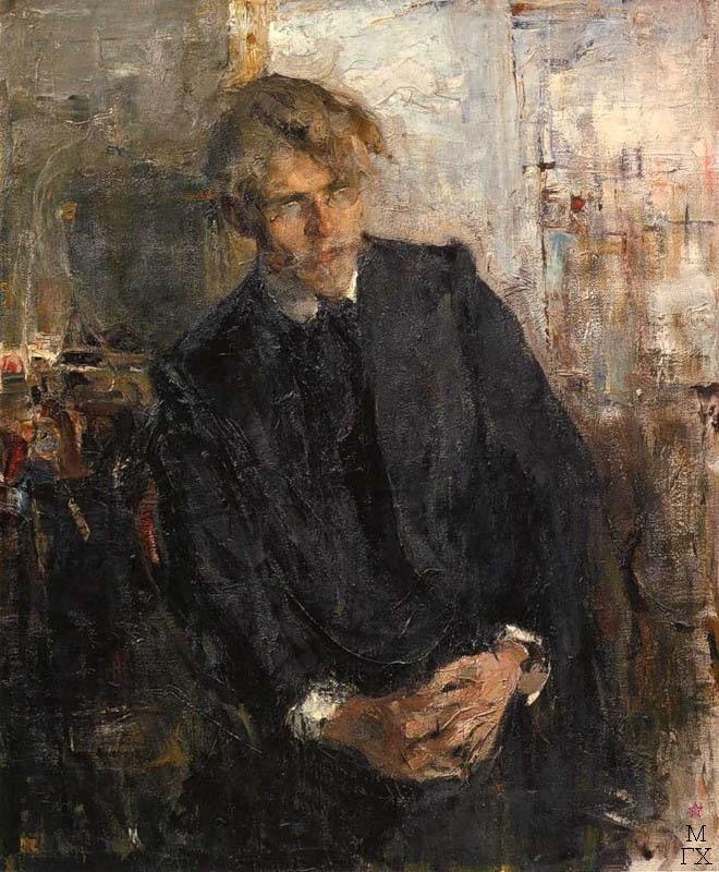Н.И. Фешин. Картина :  Портрет художника К.М. Лепилова. 1909.
