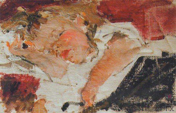 Н.И. Фешин. Картина : Ия спящая. 1913