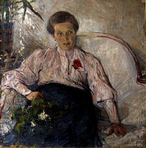 Н.И. Фешин. Картина : Портрет М.Т. Тепловой. 1906 Чувашский гос. худ. музей.