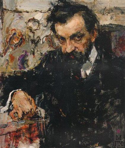 Н.И. Фешин. Картина : Портрет архитектора Петра Абрамычева.