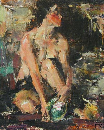Н.И. Фешин. Картина : Обнаженная с раковиной 1923-26.
