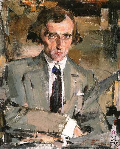 Н.И. Фешин. Картина : Портрет Н.Н. Евреинова. 1920-е гг.