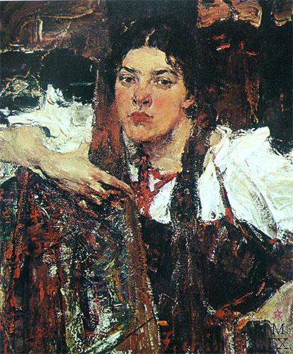 Н.И. Фешин. Картина : Александра в сарафане