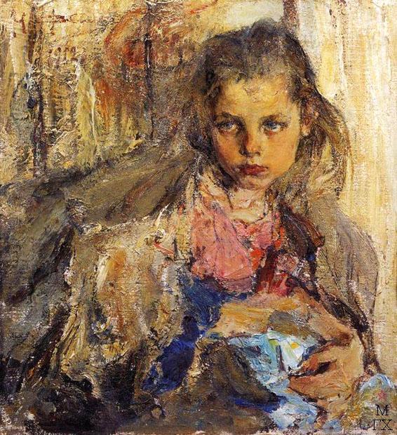 Н.И. Фешин. Картина :  Портрет Катеньки. 1912.