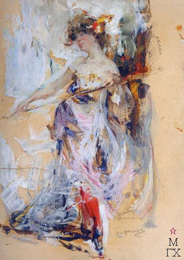 Н.И. Фешин. Картина : Натурщица. Вторая половина 1910-х
