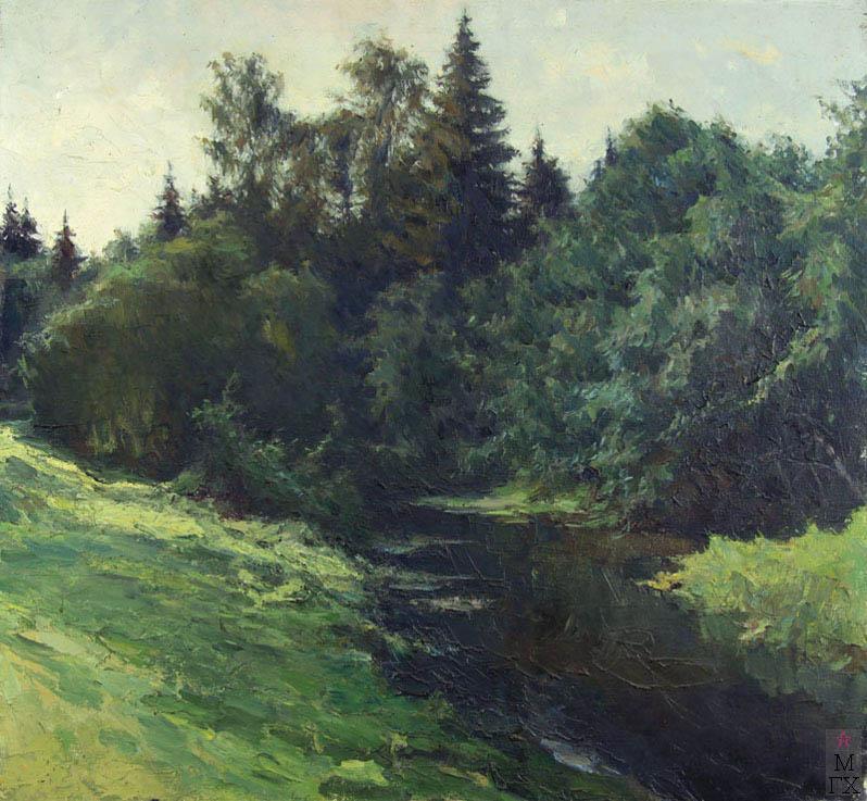 К.И. Финогенов. Лесная река. 1951.