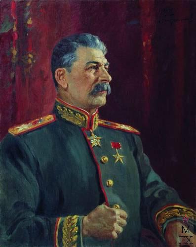 А.М. Герасимов. Портрет И.В. Сталина. 1944. Х.М. 100x79. Государственный музейно-выставочный центр РОСИЗО