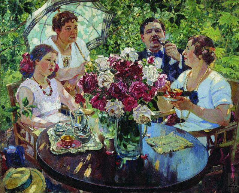 А.М. Герасимов. Семейный портрет. Х.М. 143x175. Национальный художественный музей Республики Беларусь