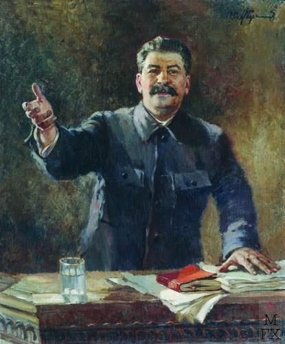 А.М. Герасимов. Портрет И.В. Сталина. 1939. Х.М. 137x112. Государственный музейно-выставочный центр РОСИЗО