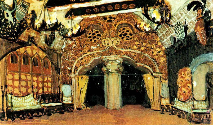 А.Я. Головин. Эскиз декорации к балету П.И. Чайковского