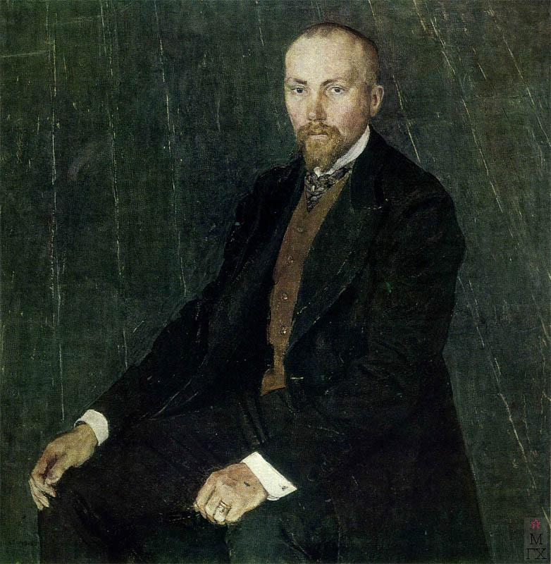 А.Я. Головин. Картина : Портрет художника Н.К. Рериха. 1907.